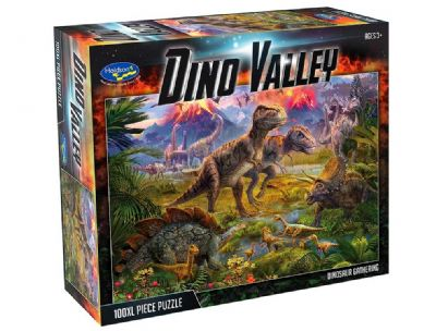 100 pce XL Dino Valley Dinoasaur Gathering