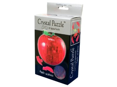 3D Crystal Puzzle Red Apple