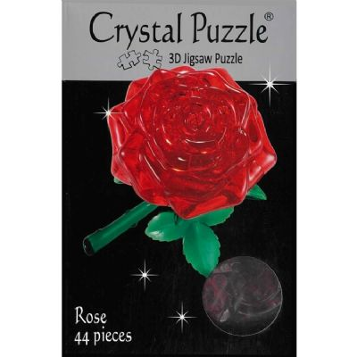 Item 362 - 3D Crystal Puzzle Red Rose